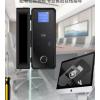 安创佳玻璃门指纹锁免开孔 玻璃门密码锁 单双门 智能电子锁门锁